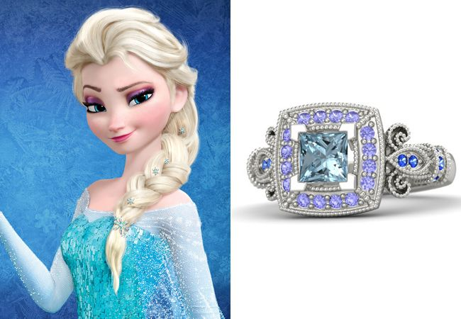An engagement ring inspired by Elsa from Disney's Frozen!