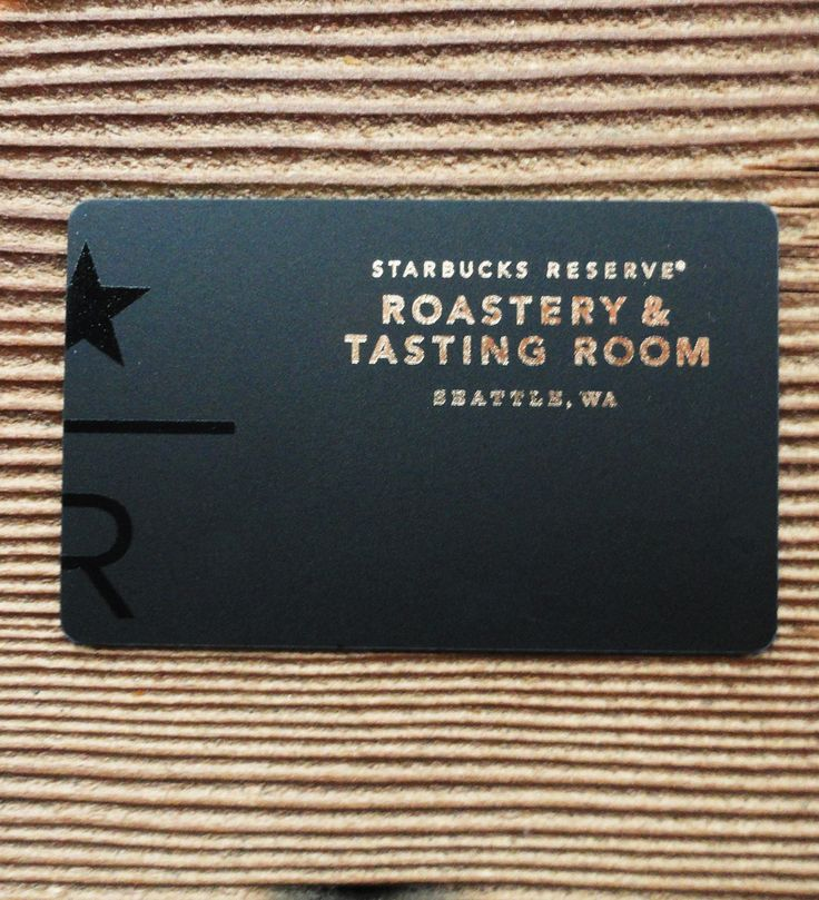 Even the card smells like freshly ground coffee beans the for Starbucks business cards