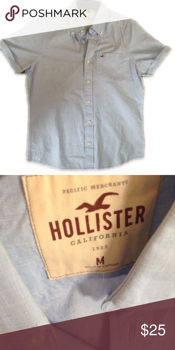 Men's Hollister Button Down Shirt Medium Hollister Shirts Casual Button Down Shirts