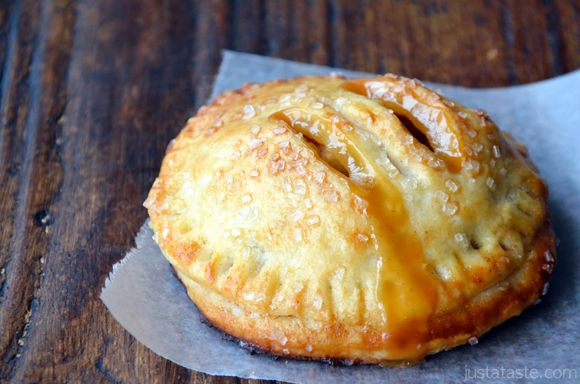 Salted Caramel Apple Hand Pies  http://www.justataste.com/2012/09/salted-caramel-apple-hand-pies-recipe/
