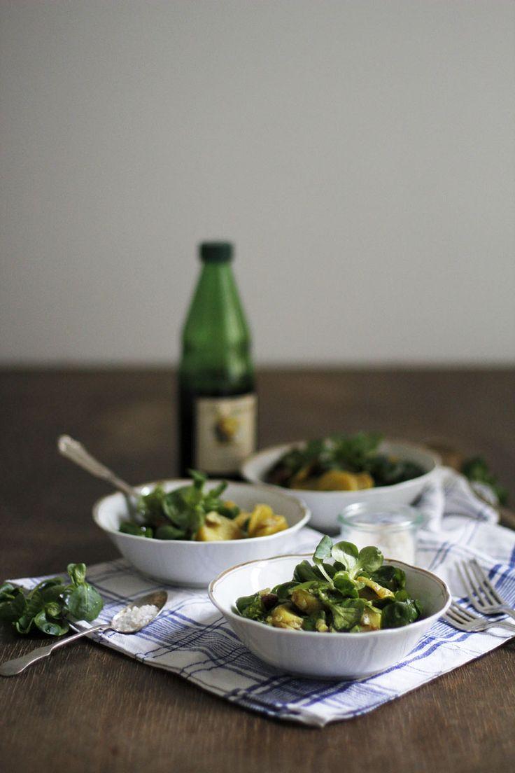 Food: Eat Seasonal – Steirischer Erdäpfel-Vogerlsalat mit Käferbohnen ♥ Rezepte | Spargel