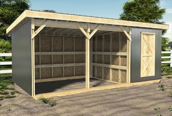 DIY Easy Horse Shelter | EASY DIY and CRAFTS - i like the storage attached to the shelter