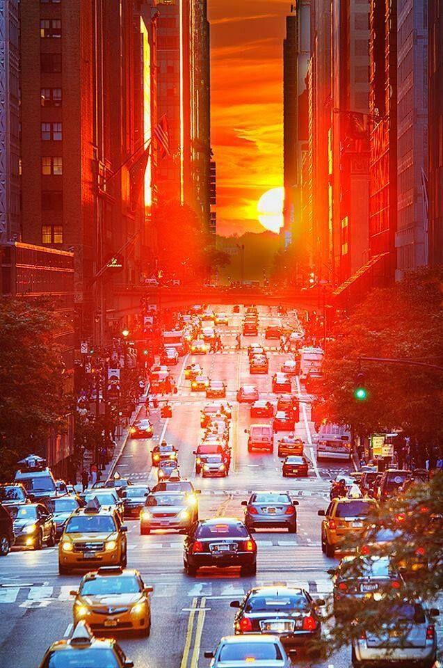 Amazing Sunset at Manhattan,  New York