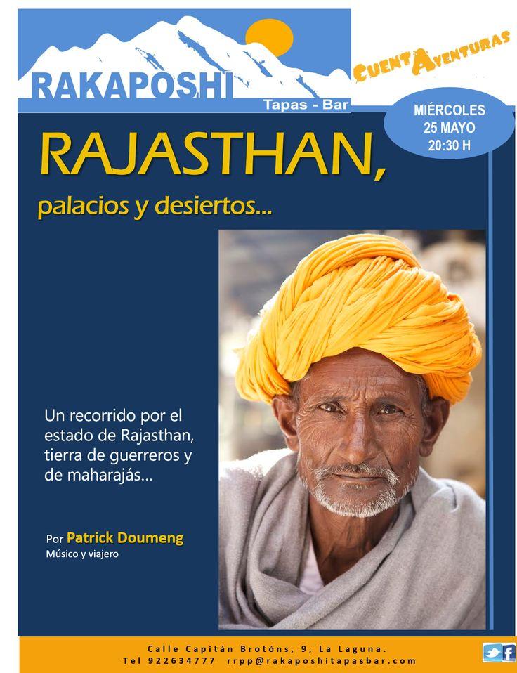 Estimad@ amig@s   nos gustaría compartir con tod@s ustedes una última incorporación a nuestro #cuentaventuras de mayo-junio.  Mañana miércoles 25 de mayo a las 20:30 horas, nuestro amigo Patrick Doumeng nos hará viajar y soñar con Rajasthan (India) Te esperamos!!!!!