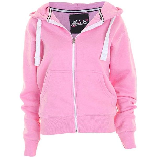 25  best ideas about Pink zip up hoodies on Pinterest | Black and ...