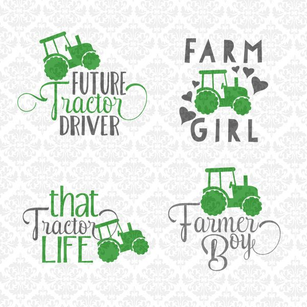 Farmer Farm Tractor Girl Boy Driver SVG DXF STUDiO Ai Eps PNG scalable Vector Instant Download Commercial Use Cricut Silhouette Cutting File by CraftyLittleNodes on Etsy