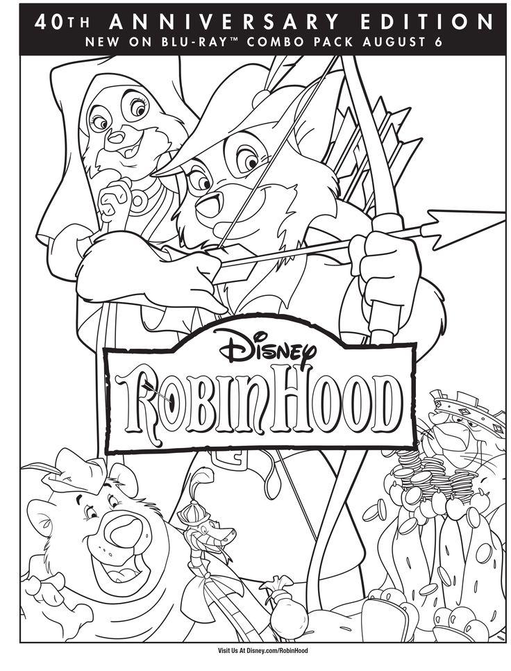 Disney Robin Hood Coloring Pages Robin Hood Coloring Page Coloring Pages Disney Robin Hood | Coloring