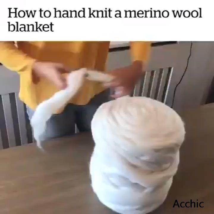 😍So stricken Sie eine Wolldecke aus Merinowolle mit der Hand HandHier >>   – Handarbeit