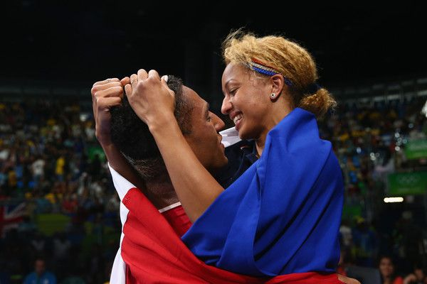 Tony Victor James Yoka of France celebrates victory over Joe Joyce of Great Britain in the Men's Super Heavy (+91kg) Final Bout on Day 16 of the Rio 2016 Olympic Games at Riocentro - Pavilion 6 on August 21, 2016 in Rio de Janeiro, Brazil.