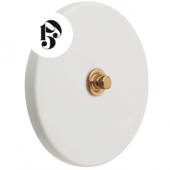 Variateur Encastrable En Porcelaine Blanc Mat Laiton Zangra Atelier 159 En 2020 Porcelaine Blanche Porcelaine Vintage Laiton