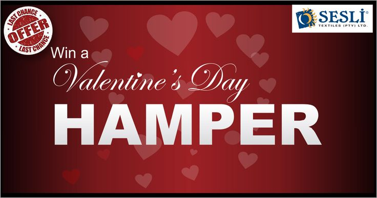 LAST WEEK LEFT! Have you entered to stand a chance of winning our superb Valentine's Hamper? Prize includes: a beverly blanket, chenille throw, picnic mat and a box of chocolates! All you have to do is spend R500 or more at our Factory shop to be entered in the draw. Competition closes 11 Feb so hurry down and fill in the entry form.  1090 Anvil Rd Robertville JHB  Tel: 011 674 3069; http://sesli.co.za/special-offer/specials