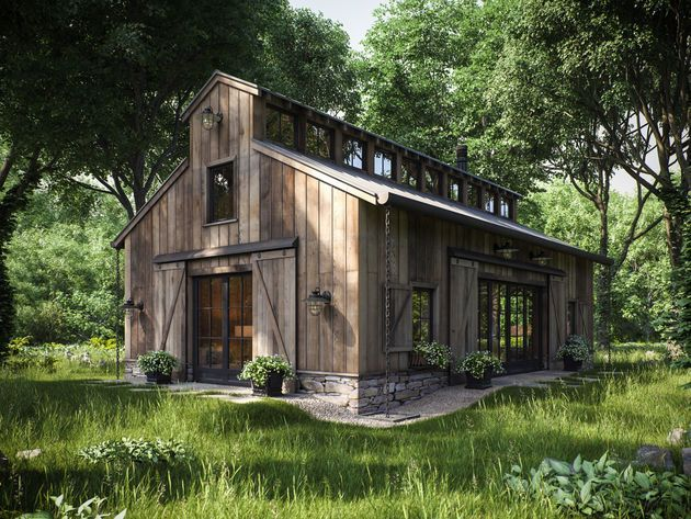 Yep  it  a rendering   Professional Architectural Visualization User  Community  Homestead House  Barn  Best 25  Barn house interiors ideas on Pinterest   Barn homes  . Pole Barn House Interior. Home Design Ideas
