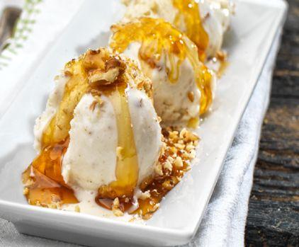 Παγωτό με γιαούρτι, μέλι και καρύδια - gourmed.gr