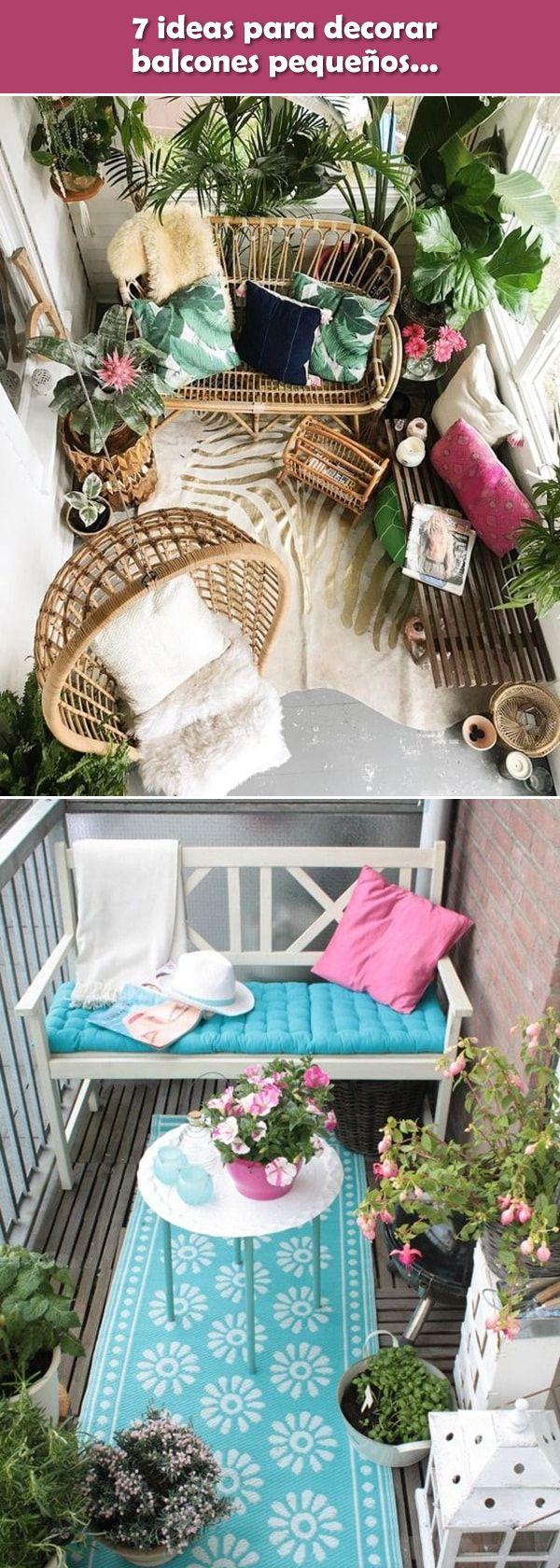 7 ideas para decorar balcones pequeños. Balcones de departamentos pequeños. #balcones #decoracionexterior
