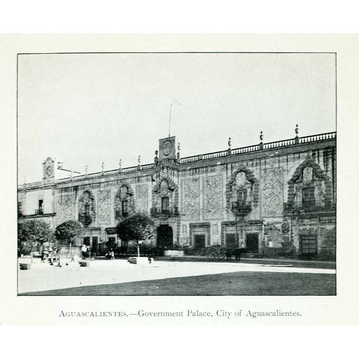 1907 Print Government Palace Aguascalientes Mexico Baroque Architecture Building - Original Halftone Print: Home & Kitchen