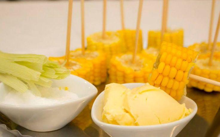 Milho cozido + manteiga + salsinha