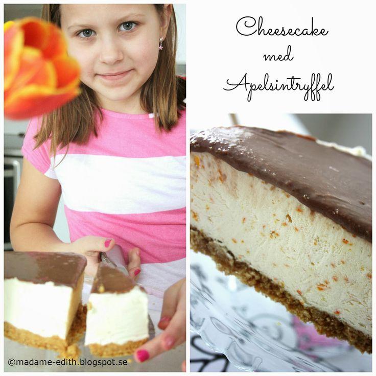 Madame Edith - Recept: Cheesecake med apelsintryffel