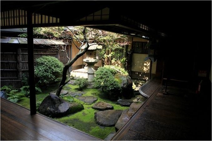 Japanese garden courtyard garden balcony outdoors for Jardin zen interior