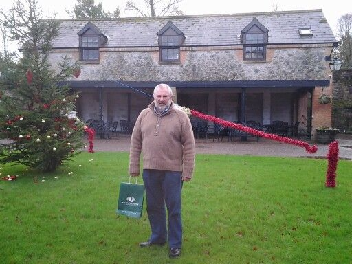 At the BLARNEY CASTLE STABLES now a coffee shop! WELL ITS AT LEAST WARM INSIDE!