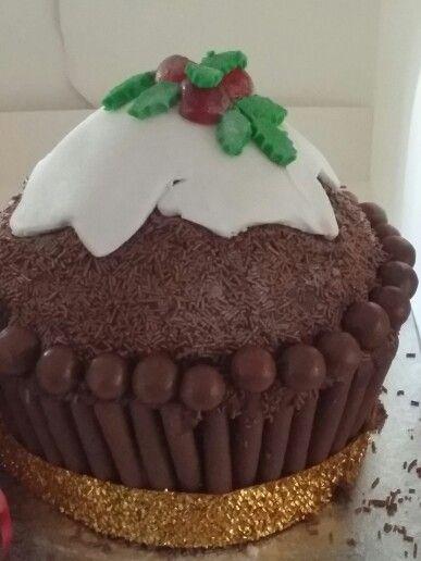 Pudding giant cupcake