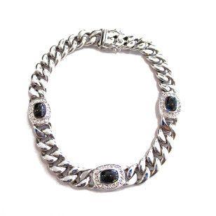 #panzerarmband #Armband #Weißgold #Saphir #Cabochons #diamonds #schmuckkontor #Bonn #Koblenz #siegburg