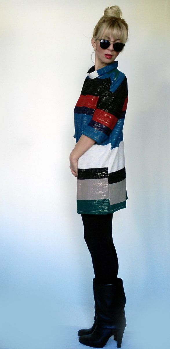 Striped Shirt-Dress