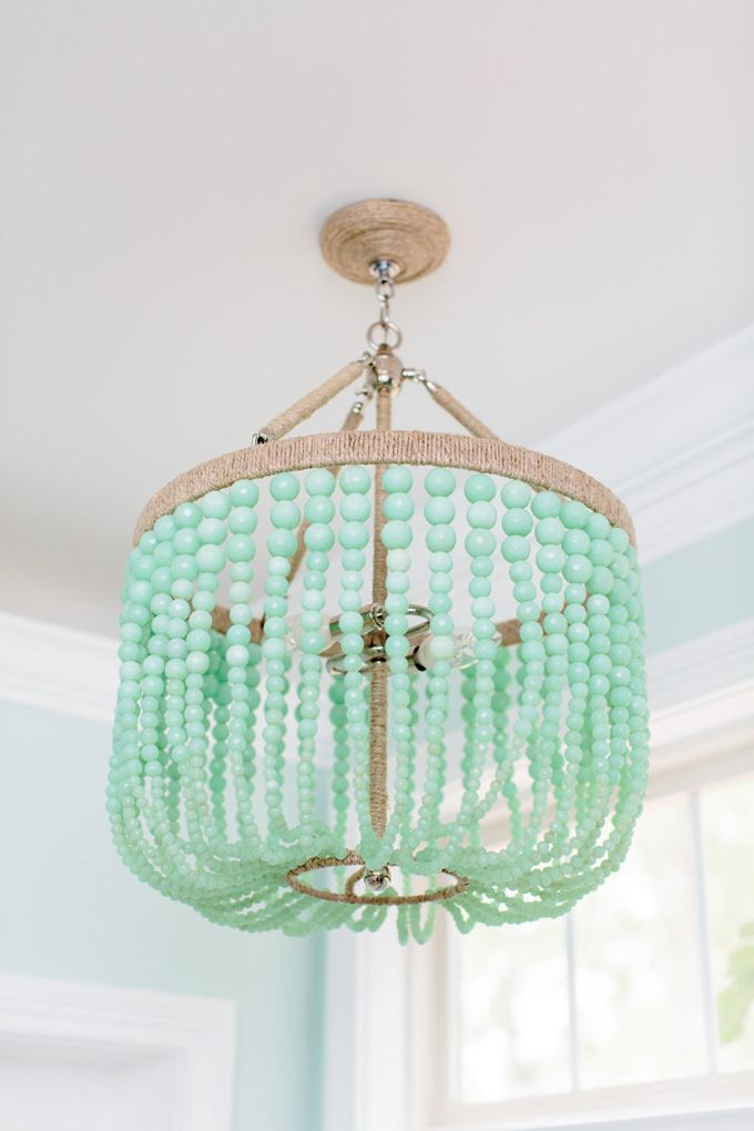 Natalie clayman interior design turquoise lamp shadeturquoise chandelierhouse