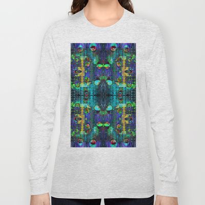 Peacock Long Sleeve T-shirts by Nahal - $28.00