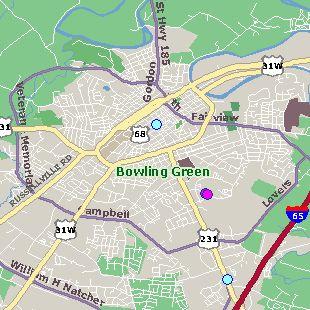 images of bowling green kentucky   Map of Bowling Green, Kentucky Hotels