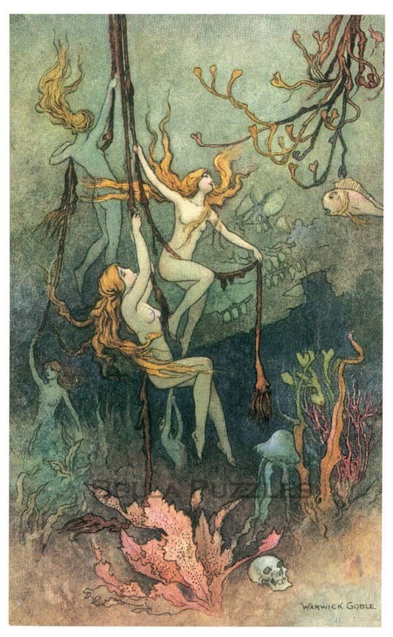 fairy tale- Reminds me of playing in the lake under the dock when we were kids.