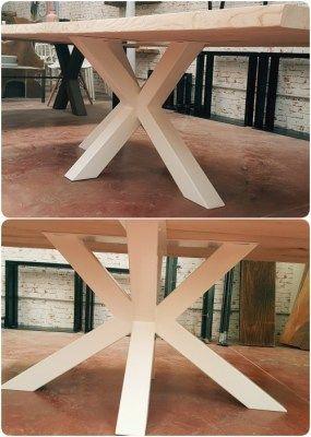 BigX Tavolo da pranzo in legno massello gamba centrale a stella ...
