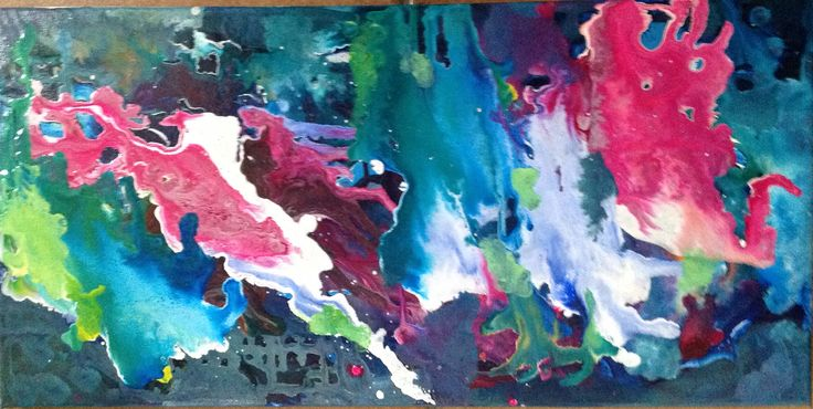 Abstract 2 by Lyn Lowes Acrylic on canvas