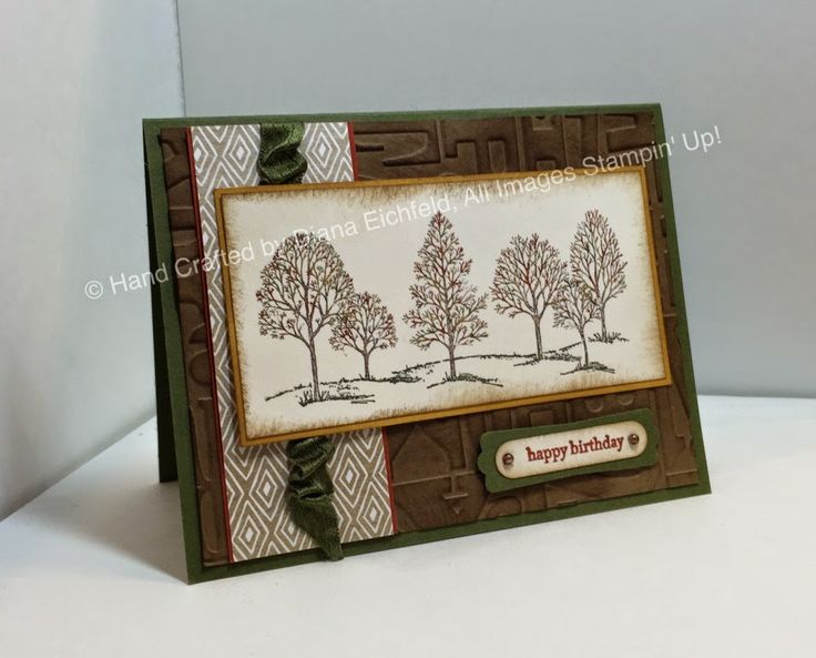 Stampin' Fun with Diana: Stylin' Stampin' INKspiration Masculine Monday: Lovely as a Tree, Teeny Tiny Wishes, Big Shot, Birthday, Masculine, Stampin' Up, Diana Eichfeld