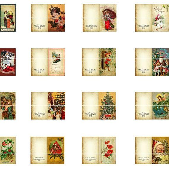 Miniature Dollhouse Christmas Cards 1:12 Scale Happy