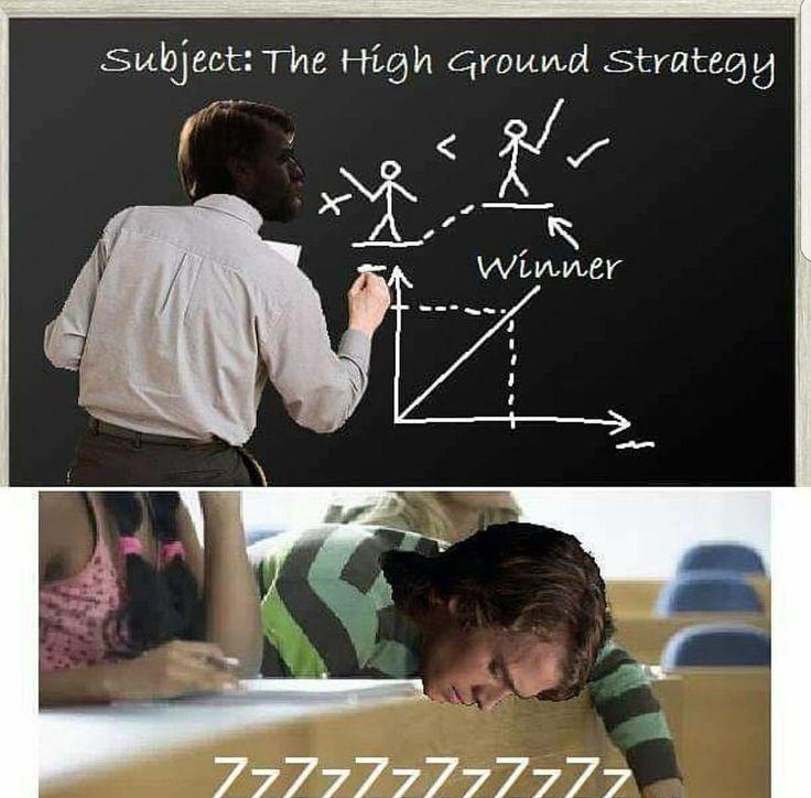 Star wars meme The High Ground