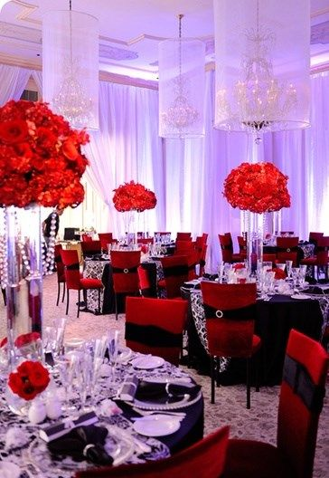 88 best red weddings and receptions images on pinterest red love the drapping junglespirit Images