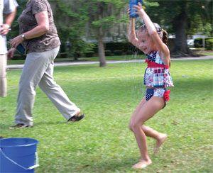 Water Bucket Relay Race