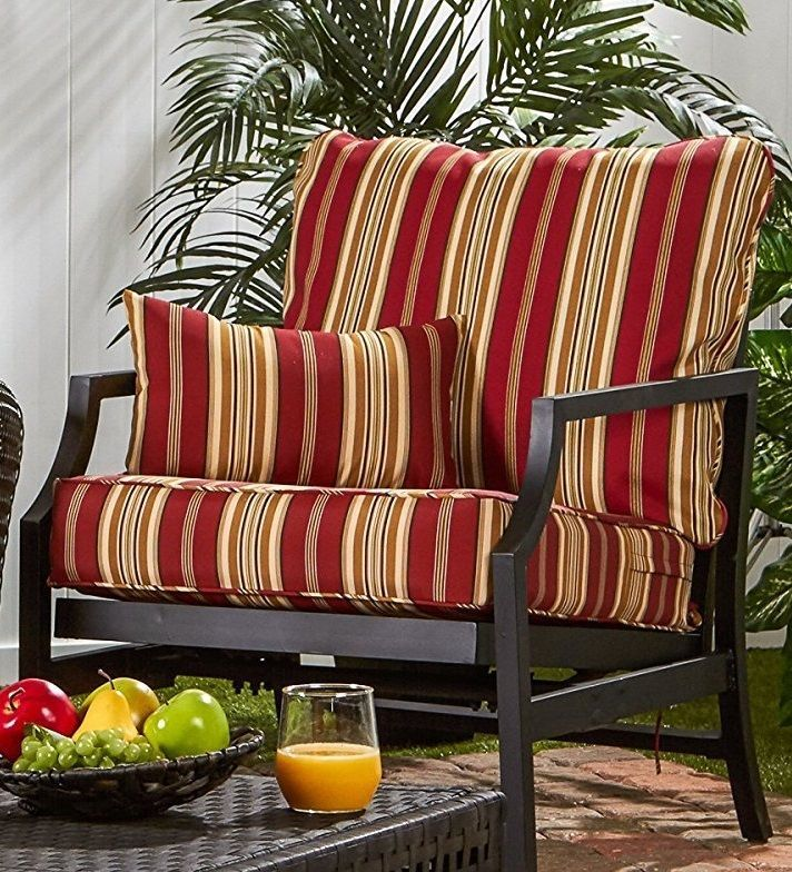 Lounge Chair Cushion Set Deep Seat Greendale Home Fashions Outdoor Multicolor  #GreendaleHomeFashions
