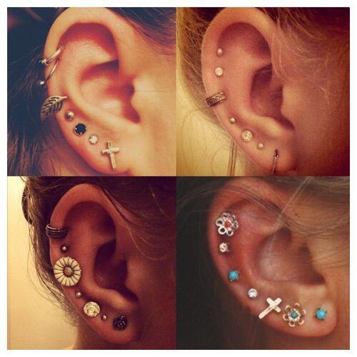 Multiple ear piercings - i want them so badly!