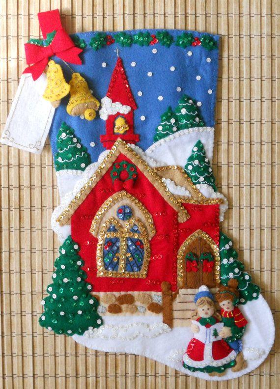 Media de Navidad Bucilla oh Santa noche por HollyCreations en Etsy