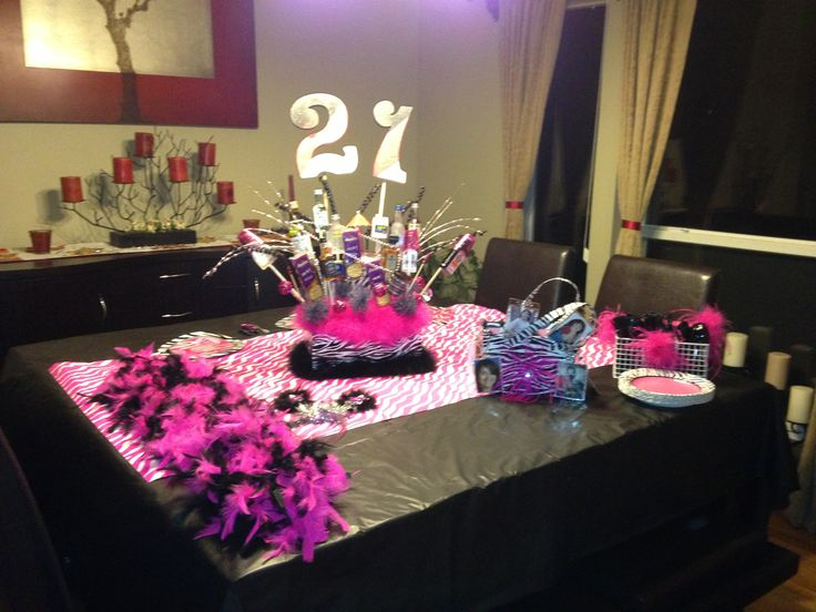 21st Birthday Party Table Setup