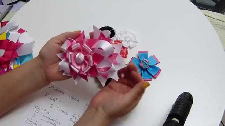 Boton de rosas en cinta para decorar flores y armar - Cintas para decorar ...