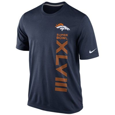 Nike Denver Broncos Super Bowl XLVIII Bound Vertical Legend T-Shirt - Navy Blue