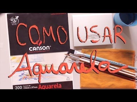 Como usar Aquarela | How to use watercolors (eng subs) - YouTube