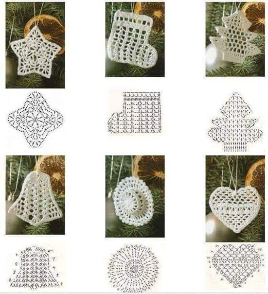 Mejores 17 imágenes de motivos navideños en Pinterest | Crochet ...