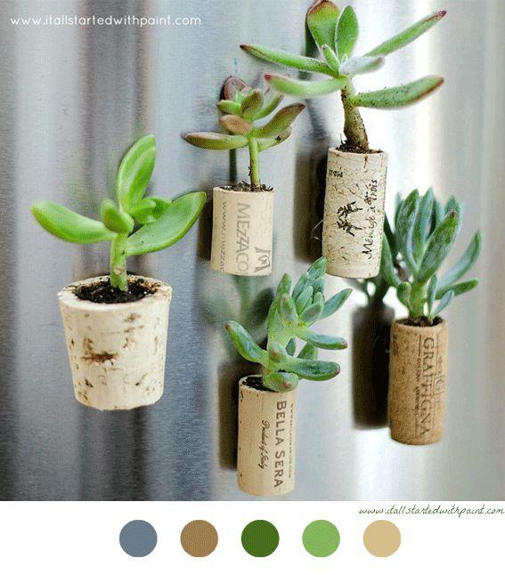 Pots En Bouchon De Li Ge Diy D Coration Decoration Craft Diy Deco Pinterest Artisanat