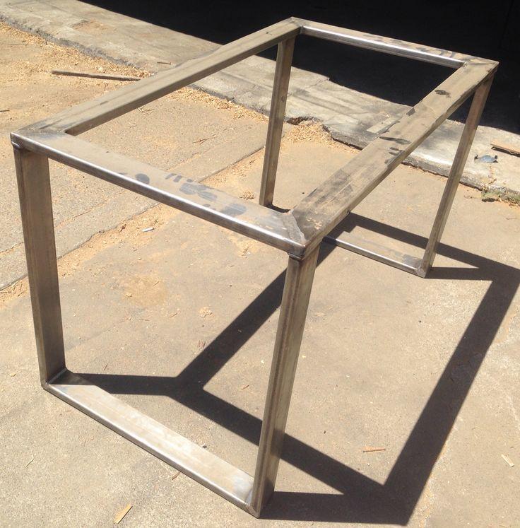 Metal Table Base Hot Rolled Steel 3x1 Tubing Metal