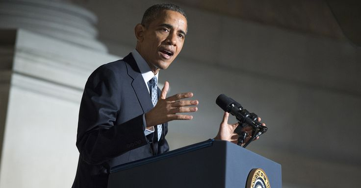 """In the Syrian refugee of today, we should see the Jewish refugee of World War II,"" Obama said."