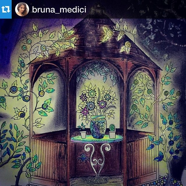 Instagram Post By Jardim Colorido Jardimcolorido GazeboJohanna BasfordSecret GardensColoring BooksColoringColoringBooksDrawings