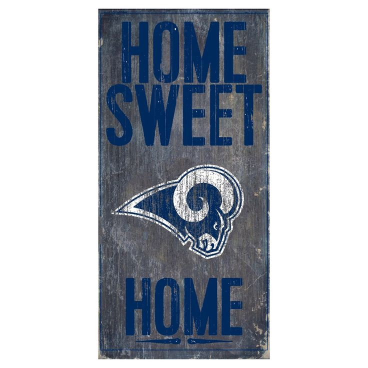 NFL Los Angeles Rams Sweet Home Sign